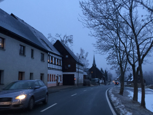 On the way back to Annaberg from Oberweisenthal in the New Year