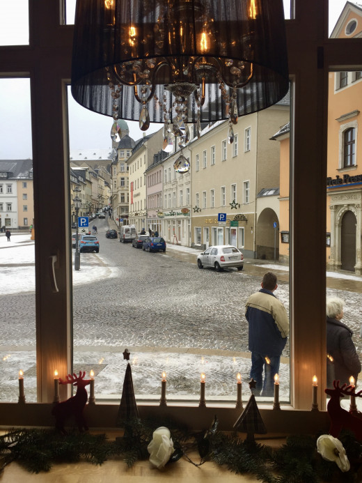 Annaberg square from a relaxing café
