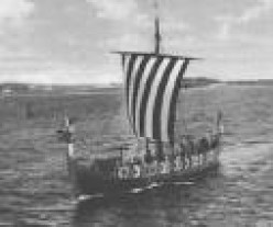 "The Viking Longship, ""Hugin,"" Brought the Vikings Again to England."