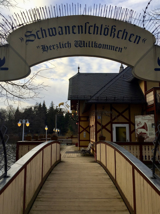 The entrance to the Schwanenschlökchen, my friends were in a constant fit with me trying to pronounce its name