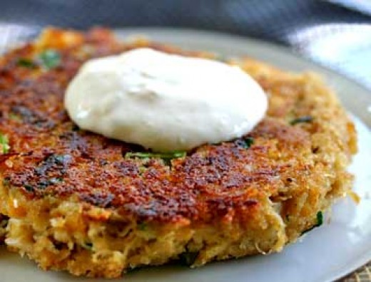Dungeness Crab Cake Above . Recipe Is Below. Oh So Good