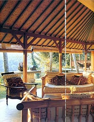 Bamboo furniture and roofs