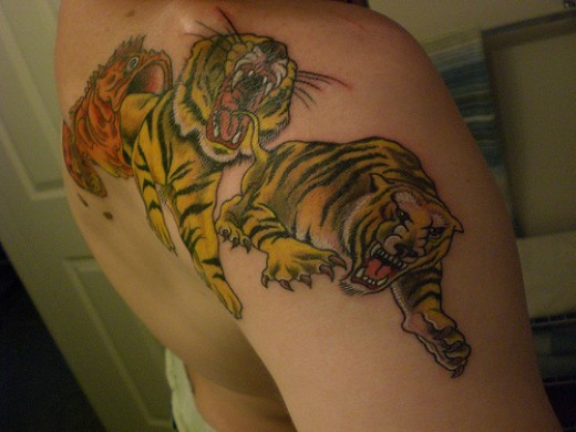 Fish Eating Fish Tattoo Fish Eating Tigers Tattoo