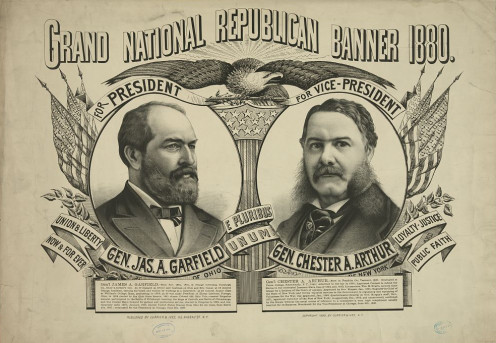 Grand national Republican banner 1880.