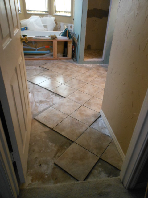 Starting your tile layout is an important first step.
