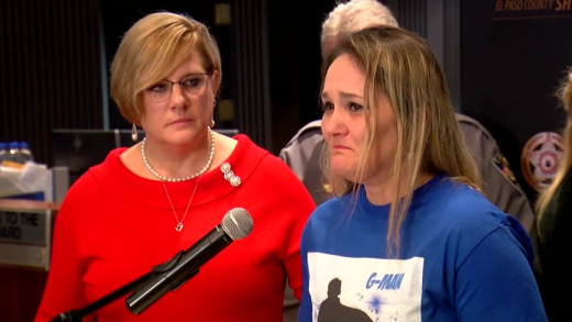 Landen Hiott made an emotional statement after being told her son was likely deceased and stepmom Letecia Stauch was arrested for his murder.
