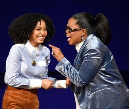 Yara Shahidi with Oprah Winfrey