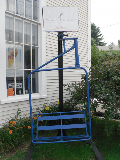 Lift outside the Vermont Ski and Snowboard Museum