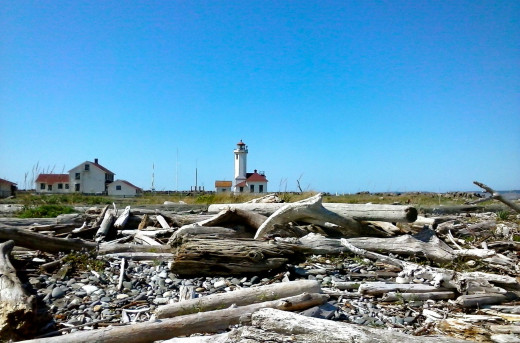 Fort Wilson Lighthouse near Port Townsend, Washington.