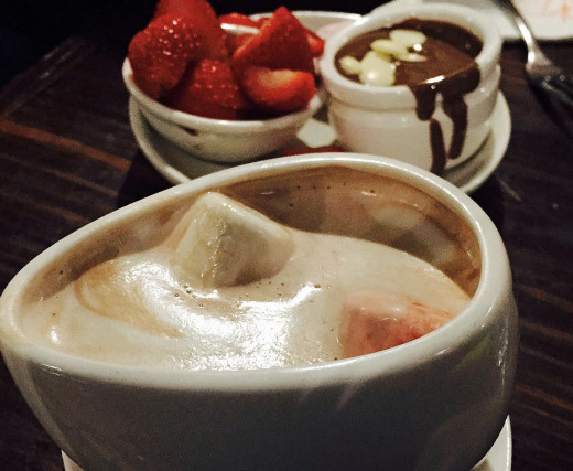 Hot chocolate at Max Brenner