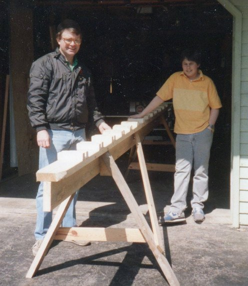 Me and son, Scott after building the Strongback