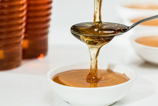 Honey is a fantastic exfoliant, amongst its other properties.