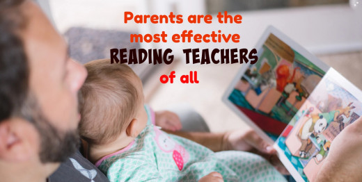 Who can better build a connection between books and feelings of love, warmth, and security than Mom and Dad?