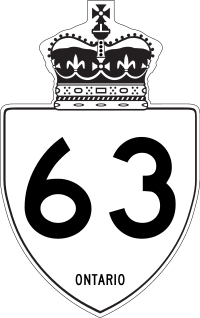 Rough approximation of the marker used on King's Highways in Ontario