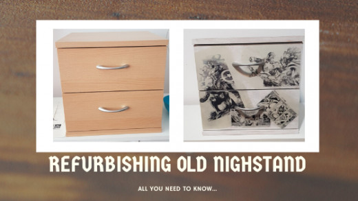 This article will show you how to refurbish an old nightstand using the decoupage technique.