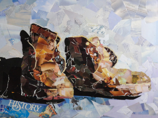 Boots collage done for a demonstration.