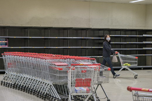 During the height of the coronavirus epidemic, Wuhan residents had to also deal with empty store shelves.