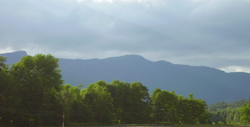 Mt. Mansfield from north of Stowe, VT.
