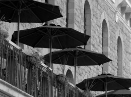 This photo of these market umbrellas says it all.  Photo by http://www.flickr.com/photos/phototypenegative/225460068/