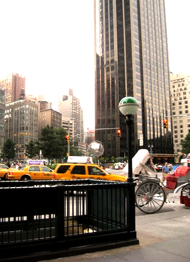 Subway entrance at Columbus Circle, just south of Central Park / E. A. Wright 2009