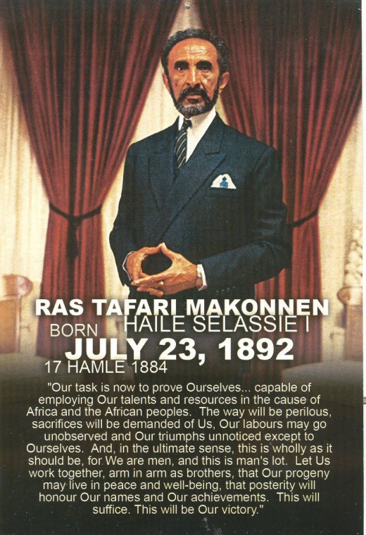 The King Of Kings, Lord Of Lords, Conquring Lion Of The tribe Of Judah- The mighty His Majesty Rasta Makonnen Haile Selassie- Jah
