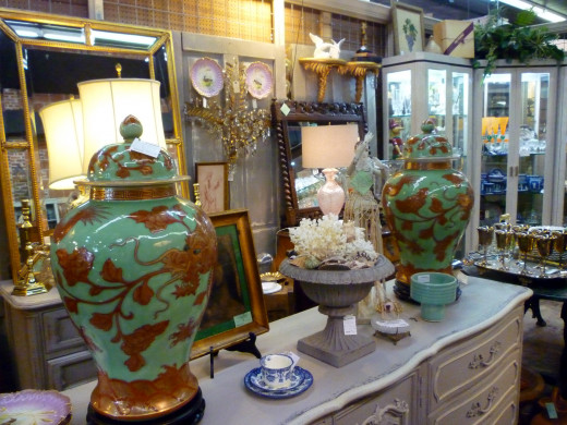 Interior view of AG Antiques on West 19th in the Houston Heights