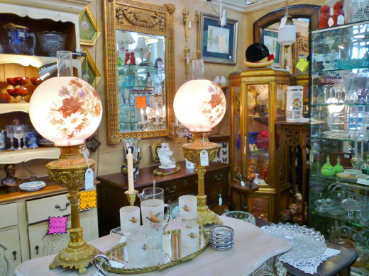 Assorted items for sale at AG Antiques