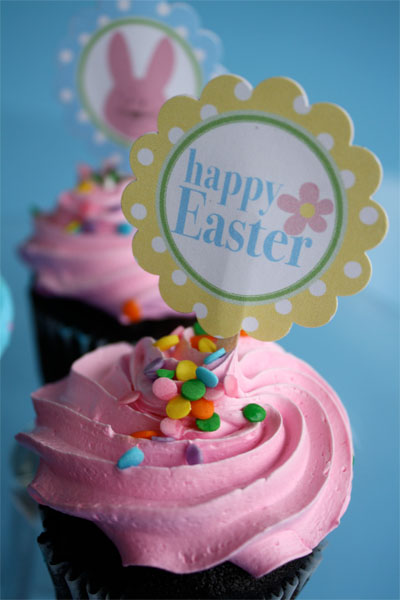 Make your Easter dessert shine with these free cupcake toppers