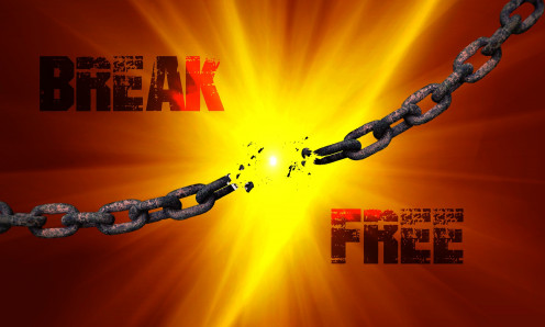 This photo symbolizes the name of the band Chainbreaker.