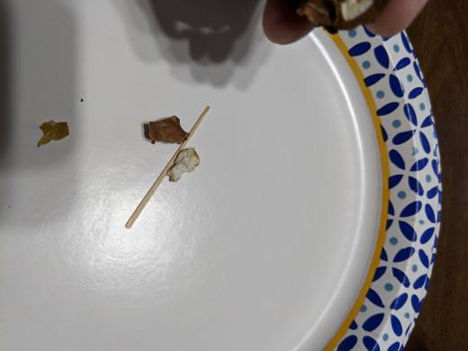 Nutmeats on plate