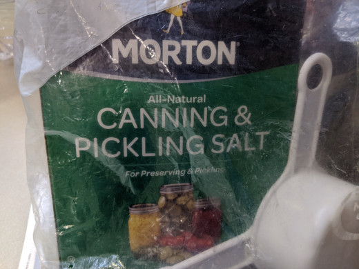 3 tablespoons  canning salt