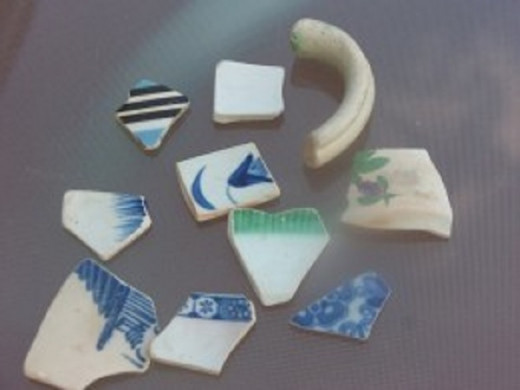 Ceramic shards are a type of sea glass
