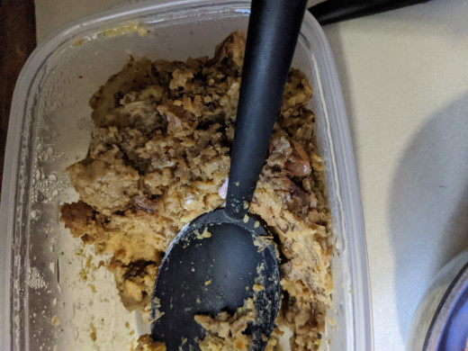 I didn't use all my leftover stuffing