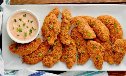 Oven-baked chicken tenders