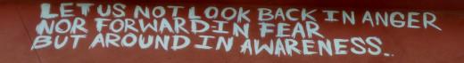 Detail of graffiti mural at Cecil's Pub