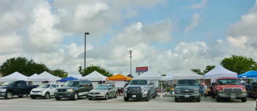 Farmers Market in Katy in church parking lot