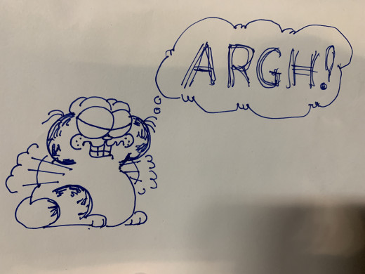 What I can draw - with all apologies to Jim Davis