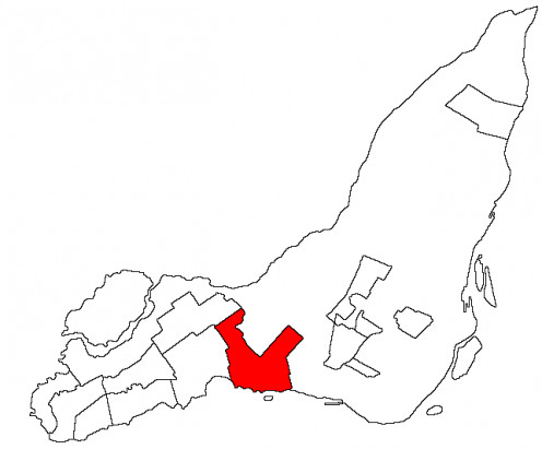 Map of Dorval on the Isle of Montreal