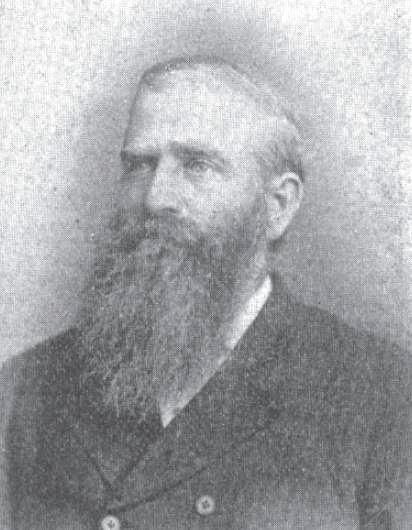 Photo of Charles Ora Card, the founder of the town of Cardston, Alberta. Jenson, Andrew (1901) Latter-day Saint biographical encyclopedia, Salt Lake City, Utah, 1901