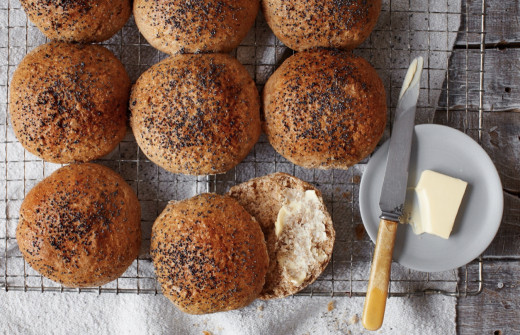Poppy seed rolls.  Prove your bread, you can leave them to rise overnight.