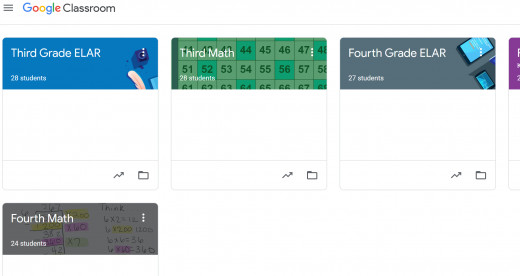 Students see all their teachers' classes in one space! Making it easy to navigate more than one classes assignments.