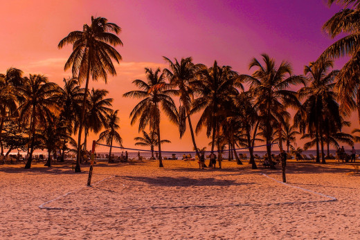 Caribbean Beach Sunset: Image by Andreas S from Pixabay