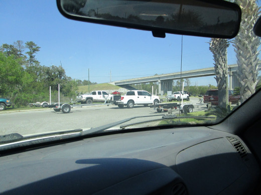 The parking lot at the Skidaway Island Boat Ramp was overflowing despite orders to stay at home