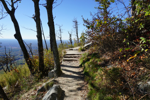 Scenes along the Jomeokee Trail at Pilot Mountain State Park - Pinnacle, NC