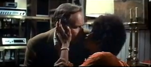 "Robert (Charlton Heston) and Lisa (Rosalind Cash) in ""The Omega Man""."
