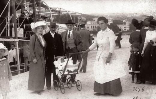 Photo: Fortepan / AR (1913) Croatia, Opatija port.