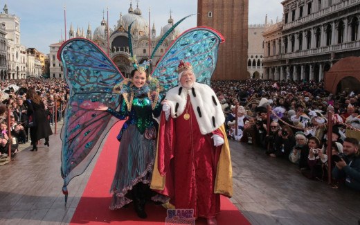 """The """"Flight of the Angel"""" is a traditional event that goes back to the Serenissima period where an unknown guest of Venice, flying along a rope from San Marco bell tower to the middle of the square."""