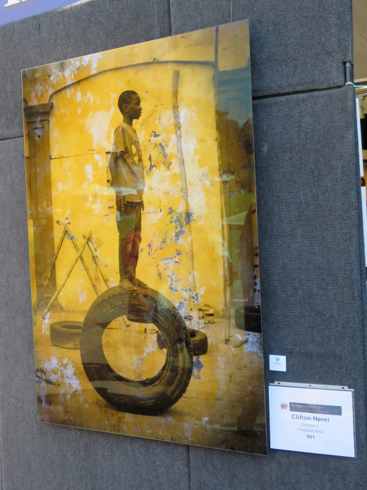 The asking price of this signature piece by Clifton Henri is $6000.