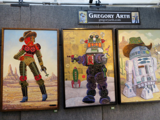 Gregory Arth Art at the Bayou City Art Festival