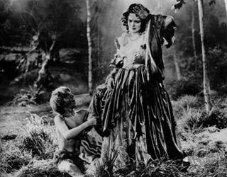 As Hermia in 'A Midsummer Night's Dream', 1933
